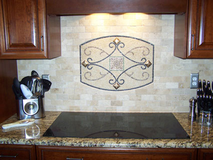 Kitchen remodeling showing new granite countertops
