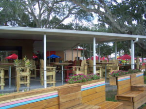 restaurant patio cover, commercial awnings